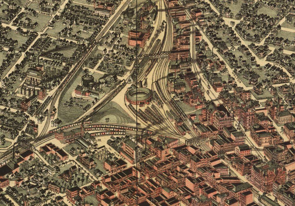 1892 Atlanta map