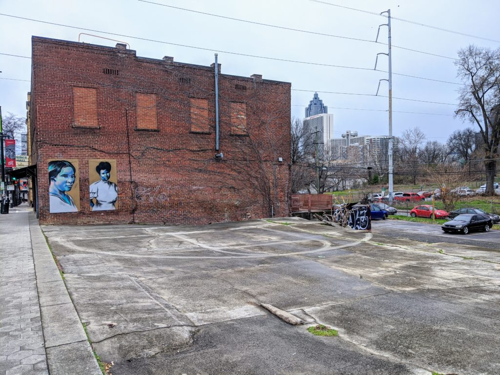 Empty property on Auburn Avenue, where a development is planned